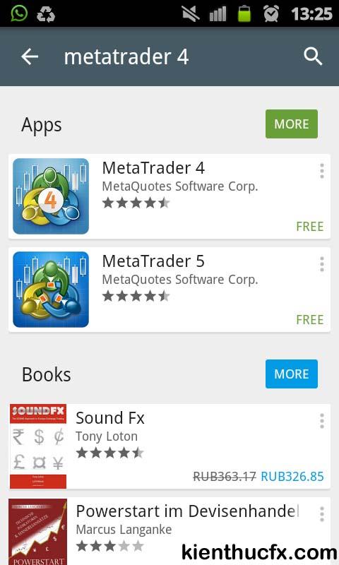 Hướng dẫn sử dụng MT4 trên Android